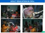 adult education in cscs