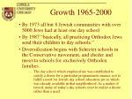 growth 1965 2000