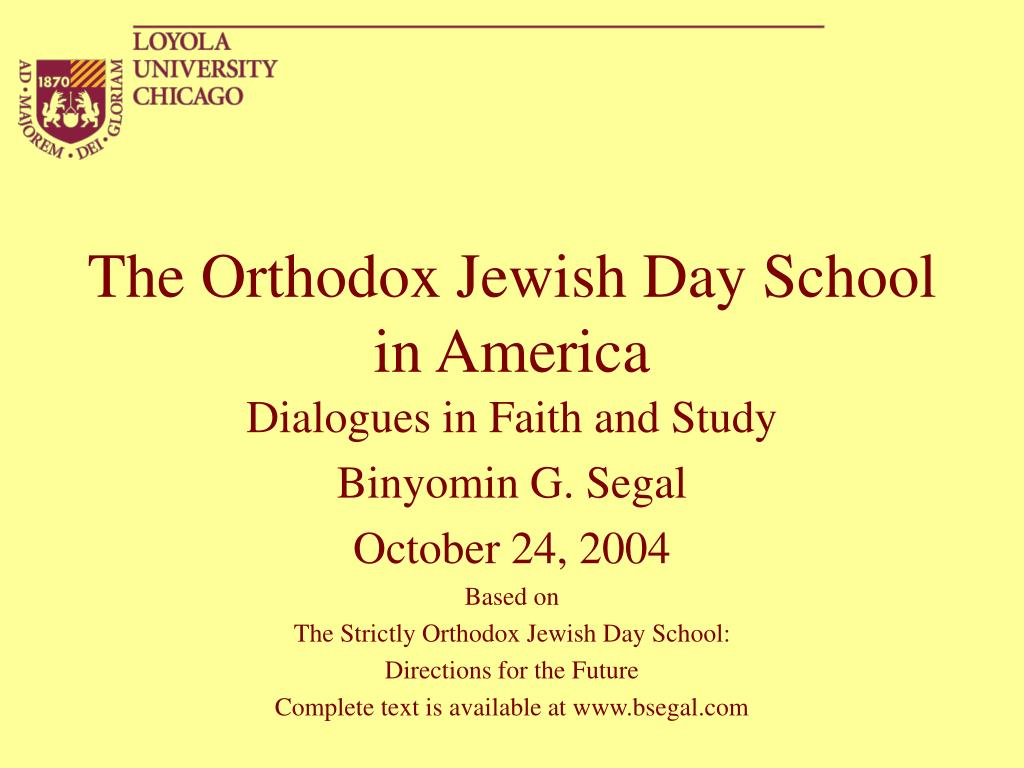 the orthodox jewish day school in america l.