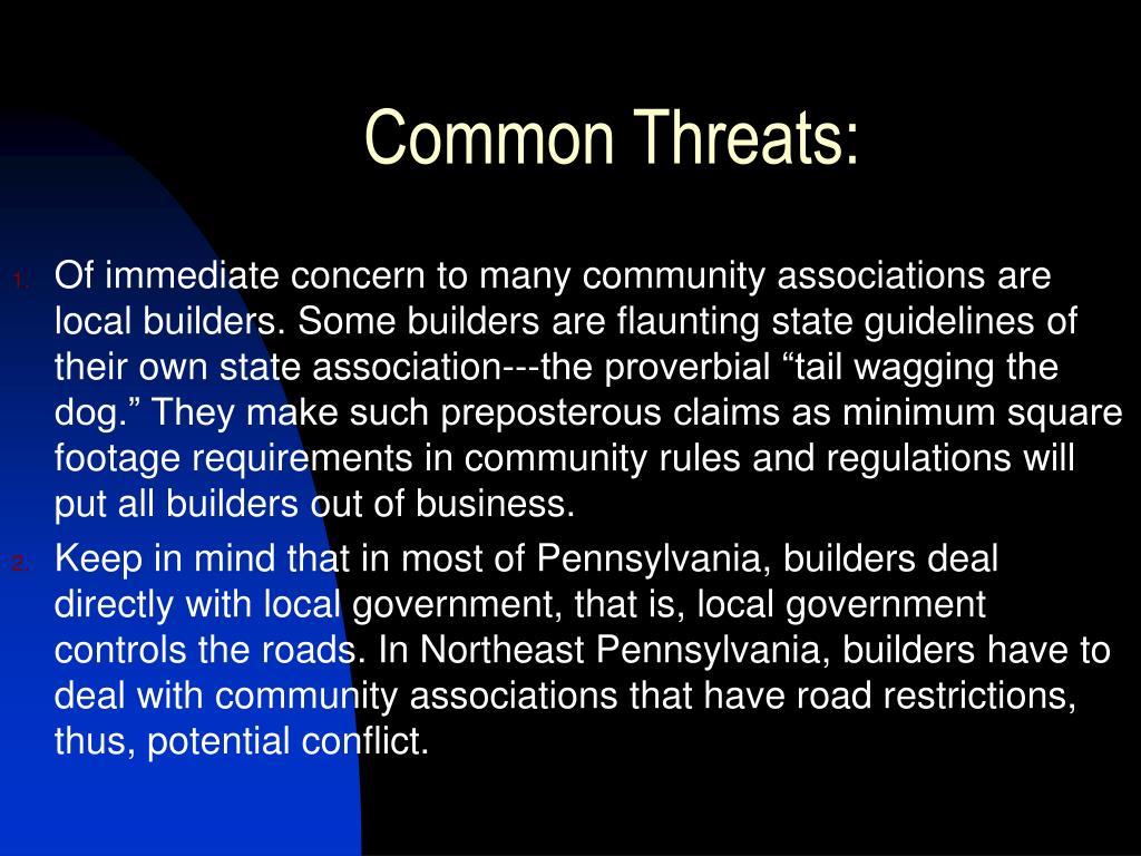 Common Threats: