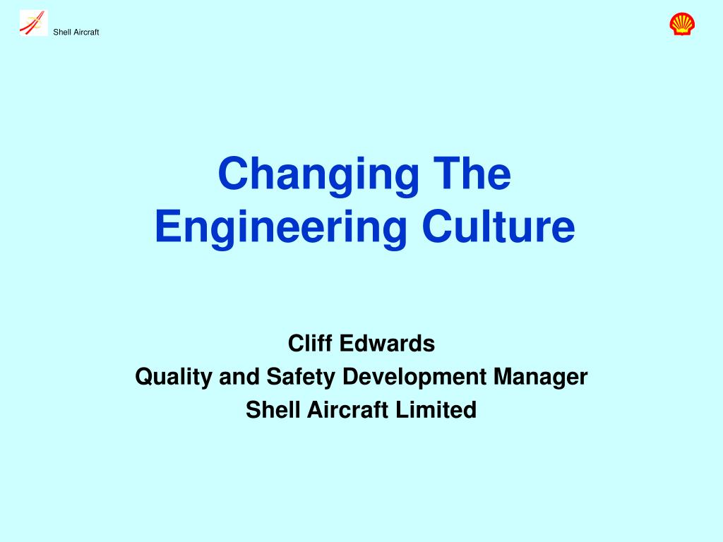 changing the engineering culture l.