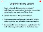 corporate safety culture