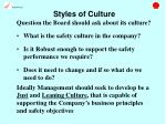 styles of culture