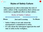 styles of safety culture