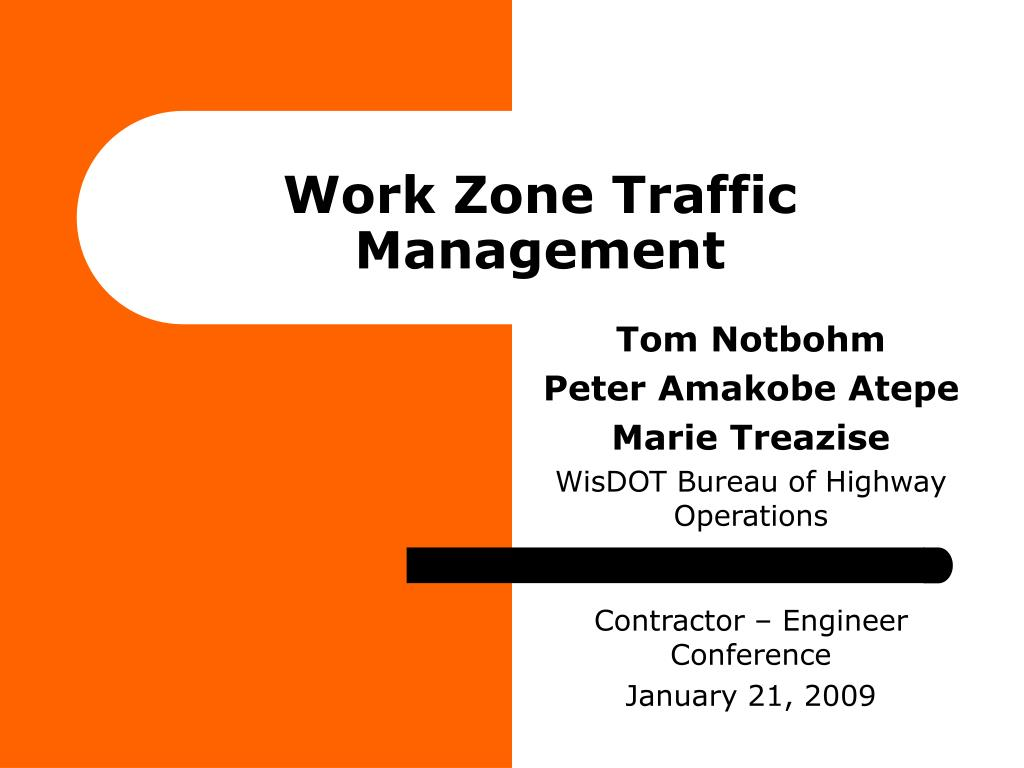 work zone traffic management l.
