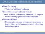applications of nanotechnology in food