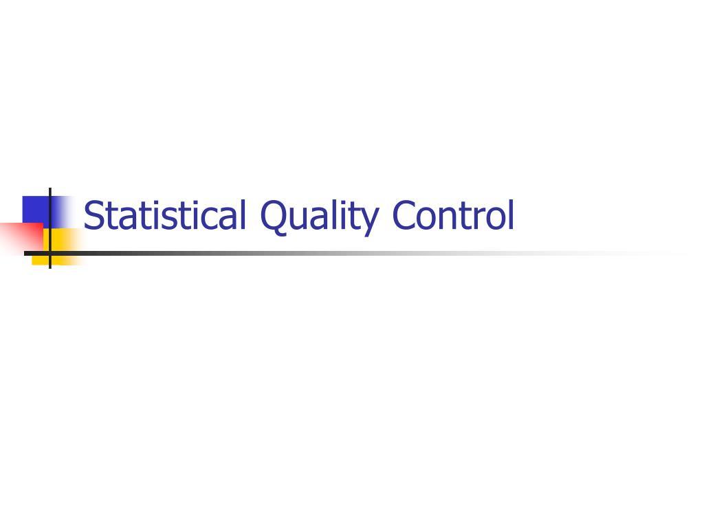 statistical quality control l.