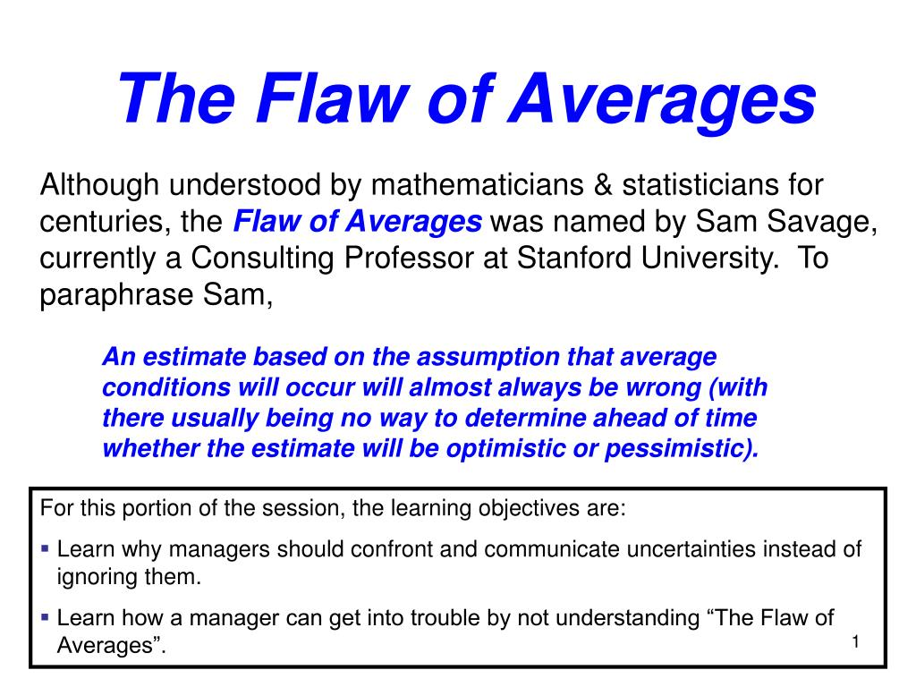 the flaw of averages l.