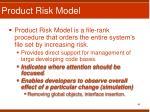 product risk model