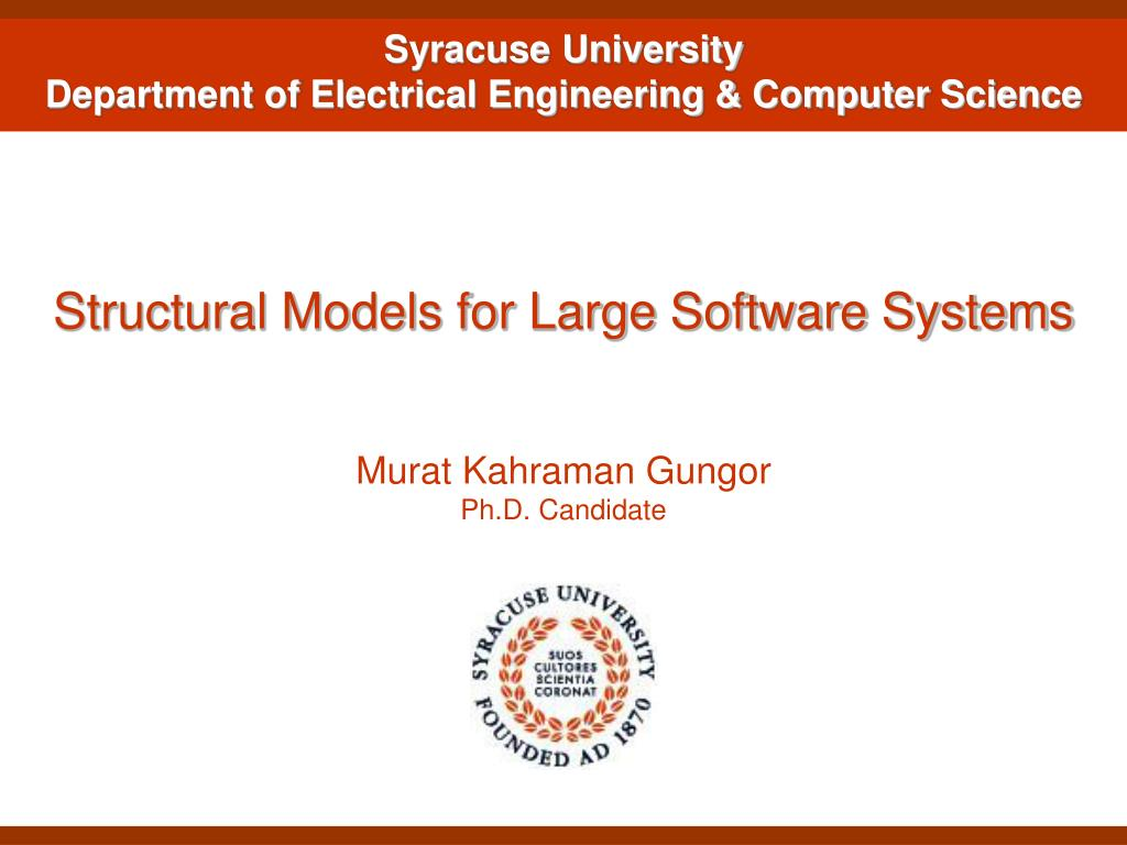 structural models for large software systems l.