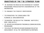 objectives of the t c strategy plan
