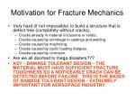 motivation for fracture mechanics