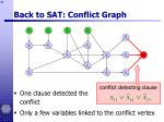 back to sat conflict graph