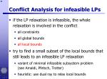 conflict analysis for infeasible lps