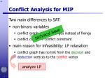 conflict analysis for mip41