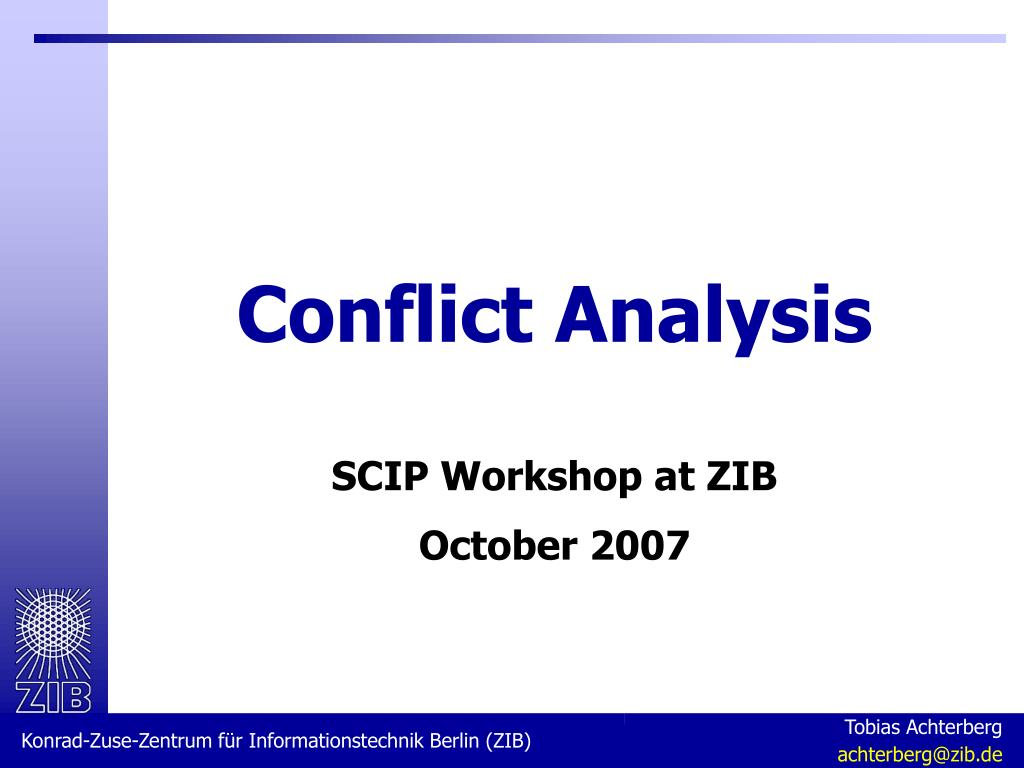 conflict analysis l.