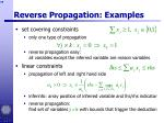reverse propagation examples59