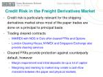 credit risk in the freight derivatives market