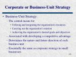 corporate or business unit strategy