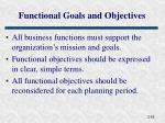 functional goals and objectives