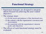 functional strategy