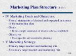 marketing plan structure 4 of 5