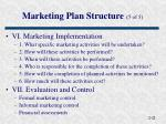 marketing plan structure 5 of 5