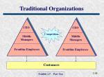 traditional organizations
