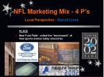 nfl marketing mix 4 p s local perspective detroit lions10
