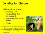 benefits for children13