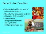 benefits for families