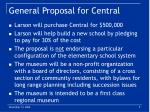 general proposal for central