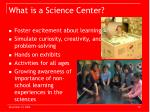 what is a science center