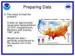 preparing data8