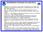 references for basic pca and rpca