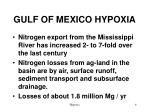 gulf of mexico hypoxia
