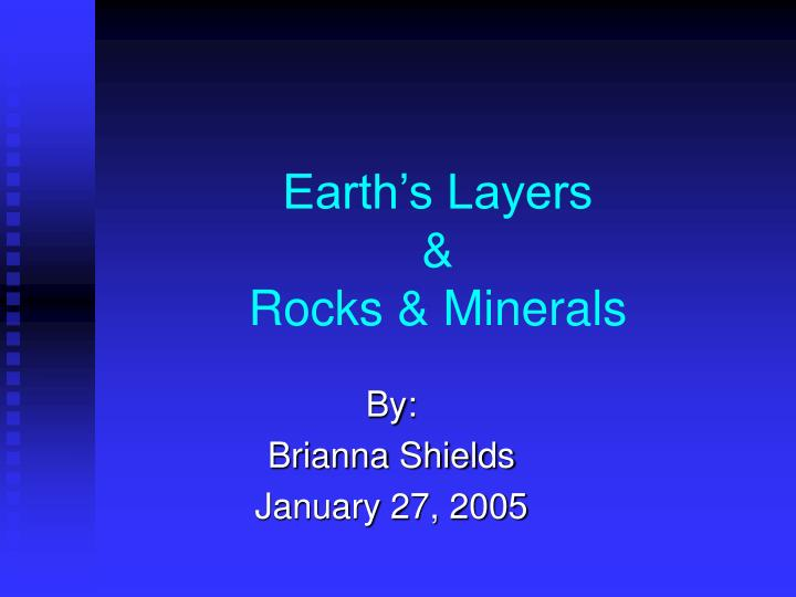 earth s layers rocks minerals n.