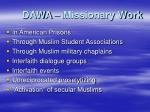 dawa missionary work