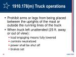 1910 178 m truck operations28