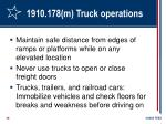 1910 178 m truck operations29