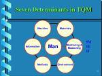 seven determinants in tqm