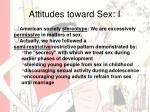 attitudes toward sex i