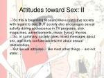 attitudes toward sex ii