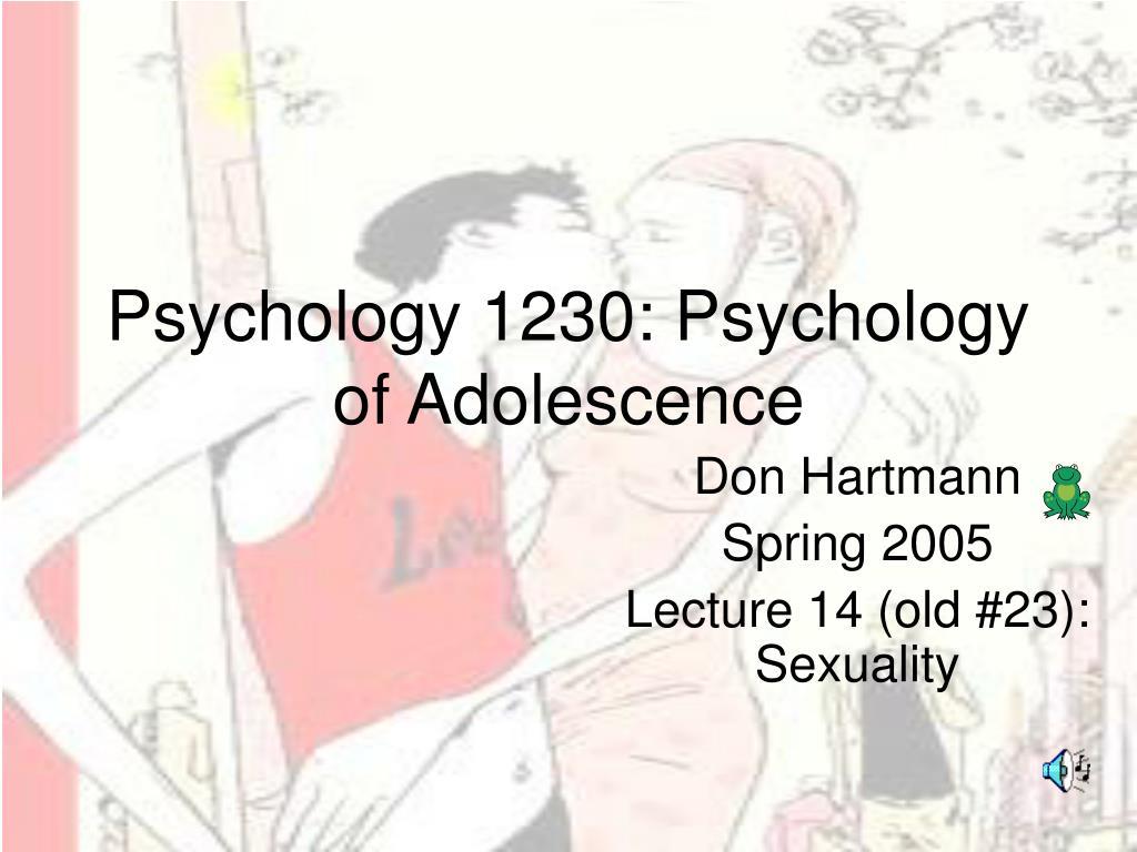 psychology 1230 psychology of adolescence l.