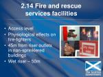 2 14 fire and rescue services facilities