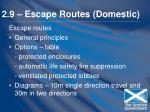 2 9 escape routes domestic