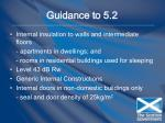 guidance to 5 2