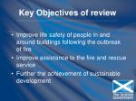 key objectives of review