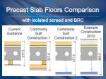 precast slab floors comparison