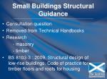 small buildings structural guidance